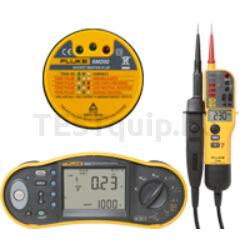 Fluke mérőműszer készlet 1652C érintésvédelmi műszer, T130 feszültségteszter, SM200 foglalat teszter Electricians Kit