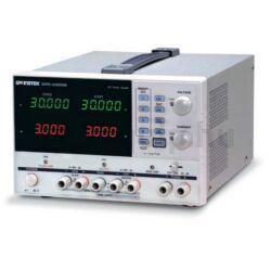 GW Instek GPD-4303S 2x30V-2x3A + 5V-3A + 5-10V-1A, 4 csatornás, trafós tápegység