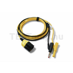 Pico TA407 BNC+ Prémium mérővezeték, BNC-4mm, 3m, sárga