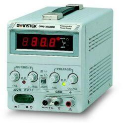 GW Instek GPS-3030 30V-3A, 1 csatornás, trafós tápegység, analóg kijelző