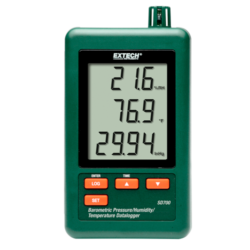 Extech SD700Hőmérséklet-, páratartalom-, légnyomás mérő és adatgyűjtő