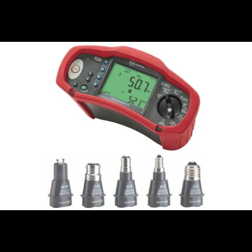 Amprobe ProInstall 100 KIT1 univerzális érintésvédelmi műszer + Lámpa foglalat adapter készlet