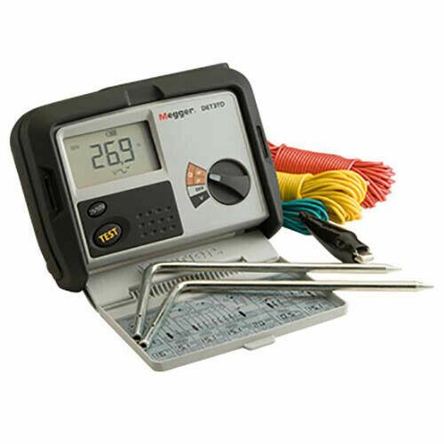 Megger DET3TD 2- és 3-pólusú földelési ellenállásmérő