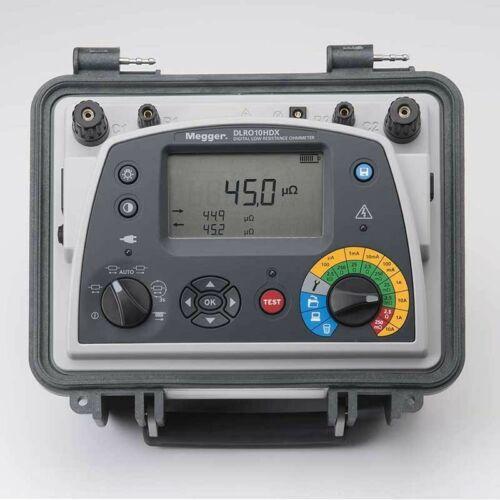 Megger DLRO-10HDX-KC1-TL3-C-LG6-P2 Ducter ellenállásmérő Kelvin csipeszes mérővezetékkel